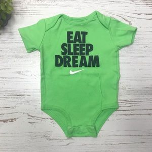 Nike baby 3/6 month lime green bodysuit one piece